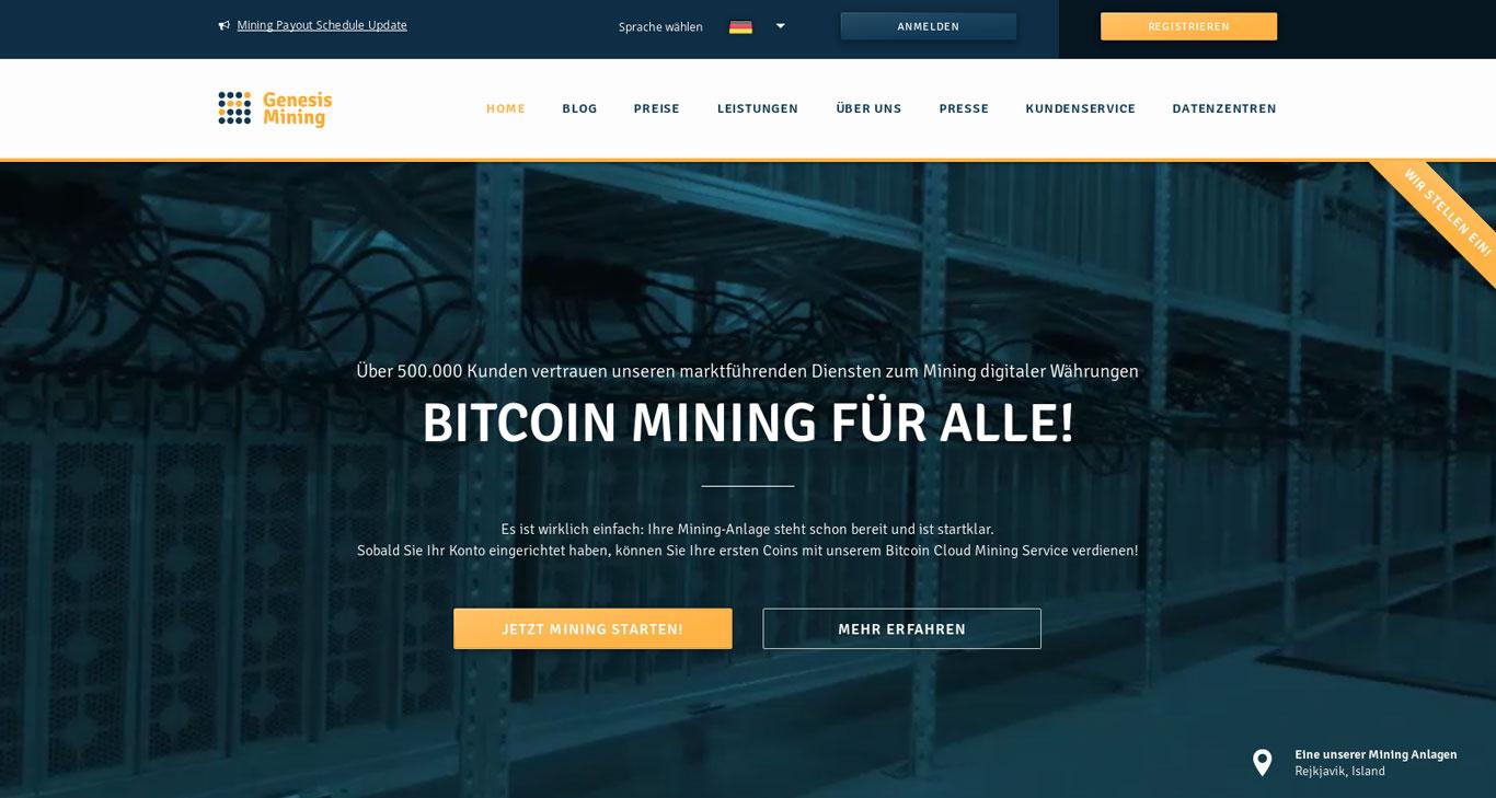 Bitcoin Cloud-Mining mit Genesis Mining