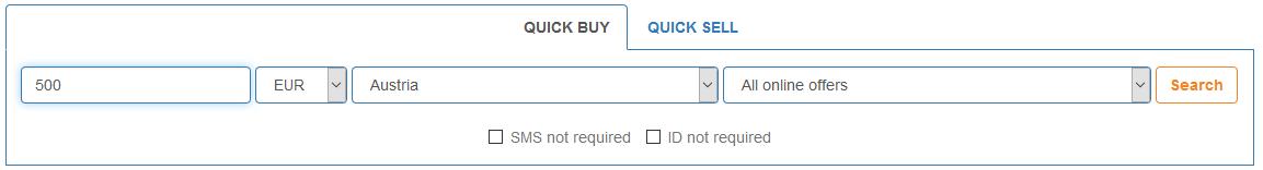 LocalBitcoins.com Quick Buy